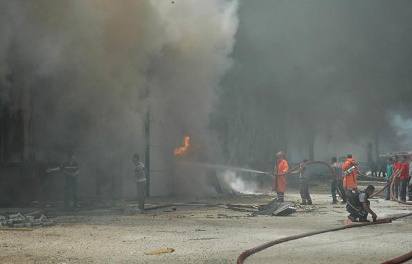 Konyada fabrika yangını 3