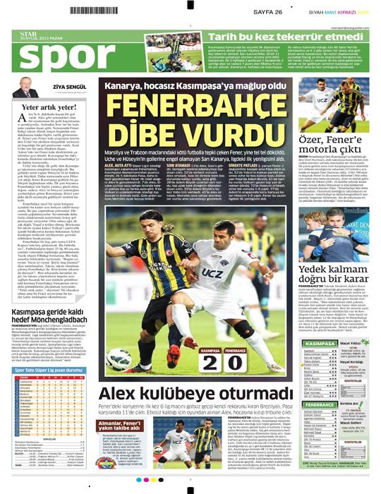 Basında Kasımpaşa-Fenerbahçe manşetleri 1