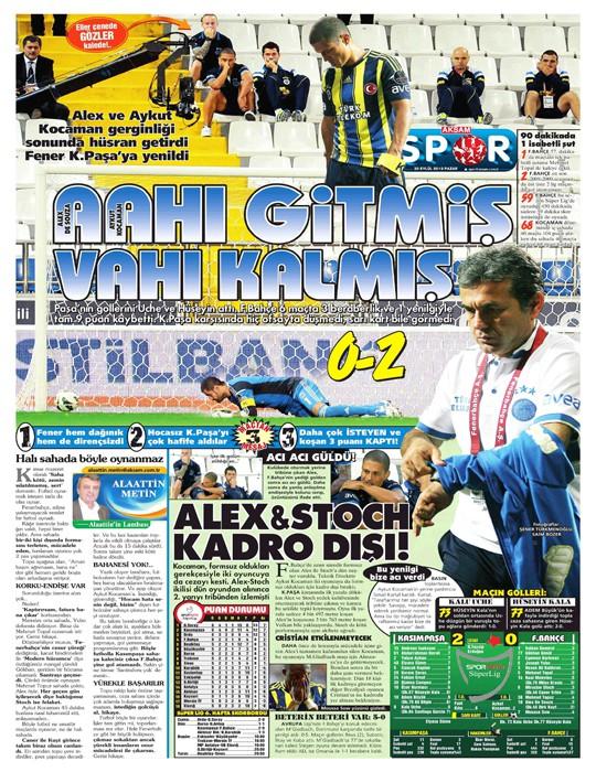 Basında Kasımpaşa-Fenerbahçe manşetleri 2