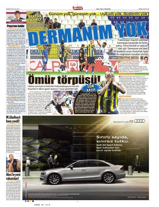 Basında Kasımpaşa-Fenerbahçe manşetleri 3