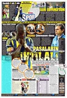 Basında Kasımpaşa-Fenerbahçe manşetleri 6