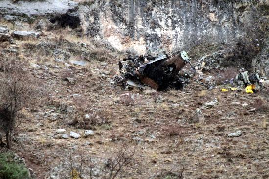 Düşen helikopterden ilk görüntüler 4