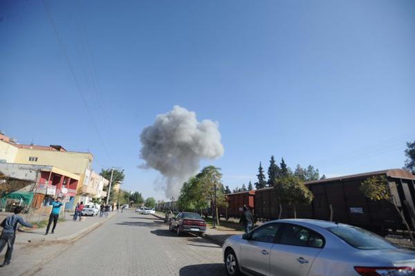 Sınırdaki patlamadan ilk görüntüler! 1