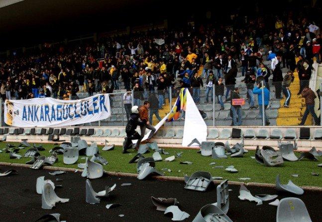 Ankaragücü - Torku Konyaspor maçında olay 13
