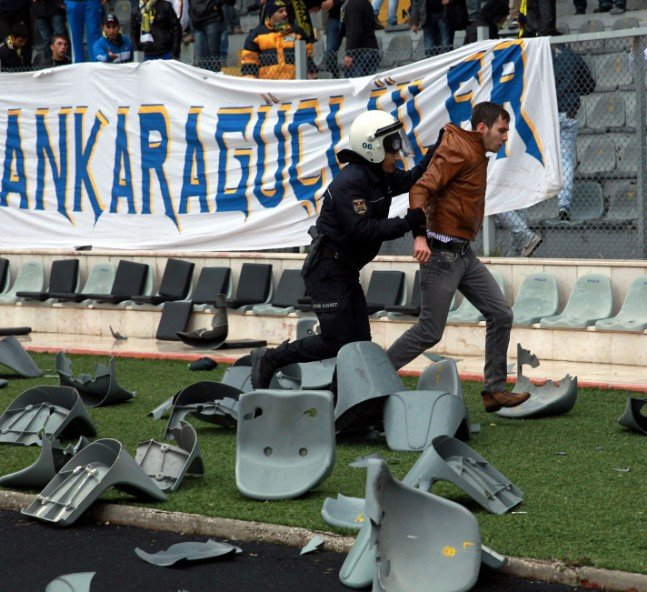 Ankaragücü - Torku Konyaspor maçında olay 9