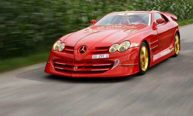 Altın kaplama Mercedesin müthiş özelliği 12