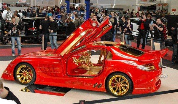 Altın kaplama Mercedesin müthiş özelliği 3