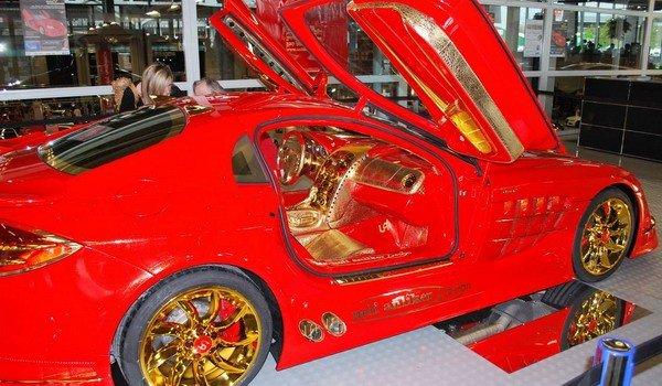 Altın kaplama Mercedesin müthiş özelliği 5