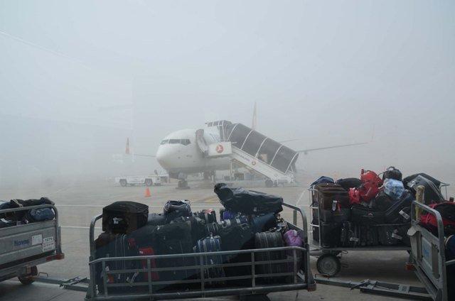 Hava ulaşımına sis engeli 1