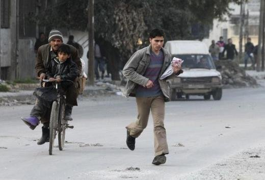 Halepten tüyler ürperten çatışma görüntüleri 8