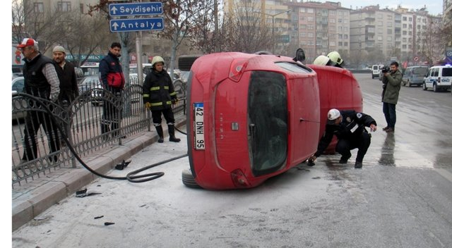 Konyada trafik kazası: 3 yaralı 2