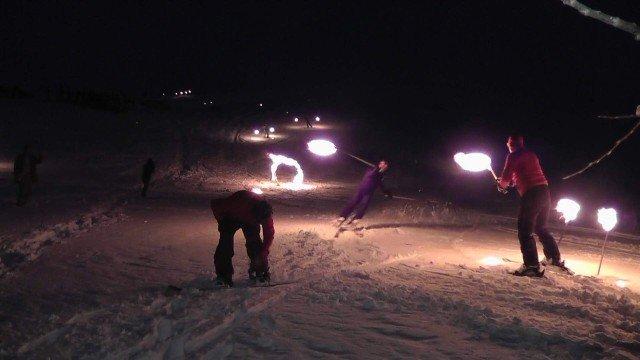 Konya Aladağda kayak şov 1