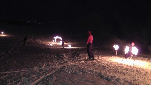 Konya Aladağda kayak şov 2
