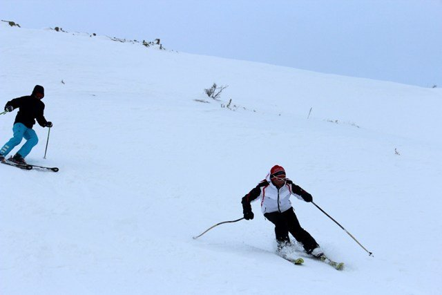 Konya Aladağda kayak şov 5