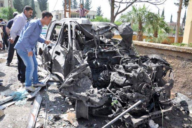 Reyhanlıda bomba yüklü araçla saldırı 8