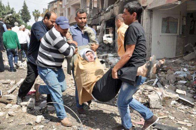 Reyhanlıda bomba yüklü araçla saldırı 9