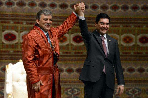 Güle Türkmenistanın en büyük devlet nişanı 1