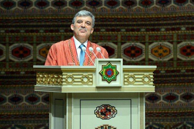 Güle Türkmenistanın en büyük devlet nişanı 4
