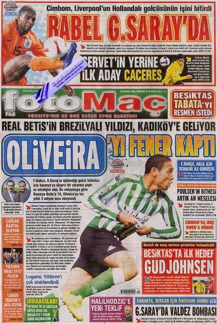 Bir zamanların balon transfer manşetleri 19