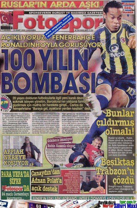 Bir zamanların balon transfer manşetleri 24
