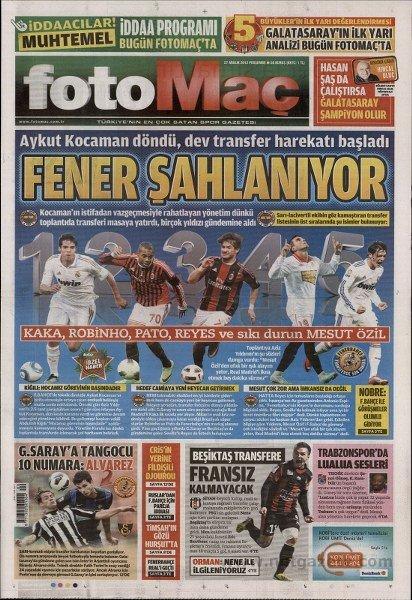 Bir zamanların balon transfer manşetleri 29