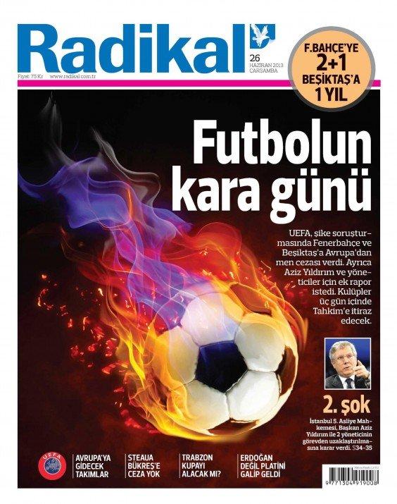 UEFAnın şok kararı gazete manşetlerinde 11