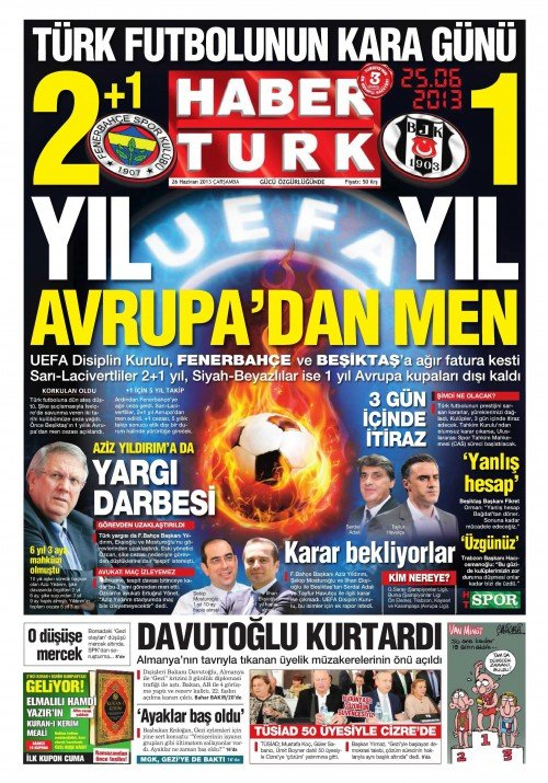 UEFAnın şok kararı gazete manşetlerinde 16