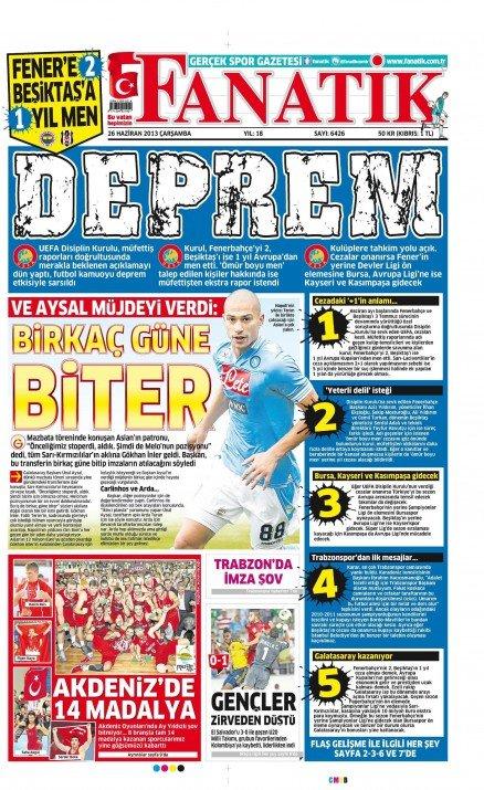 UEFAnın şok kararı gazete manşetlerinde 18