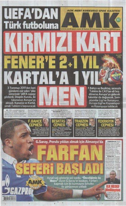 UEFAnın şok kararı gazete manşetlerinde 20