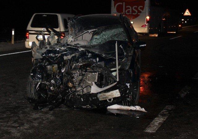 Gurbetçi aile kaza kurbanı : 3 ölü 5