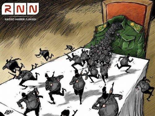 Mısır katliamının karikatürleri 11