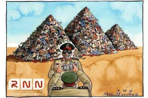 Mısır katliamının karikatürleri 12