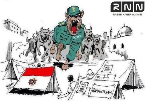Mısır katliamının karikatürleri 5