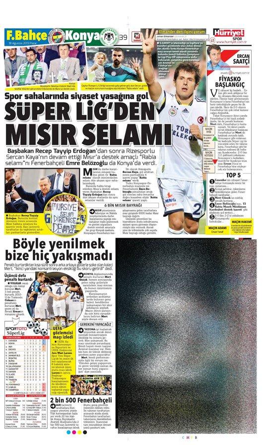Gazetelerin Konyaspor-Fenerbahçe manşetleri 13