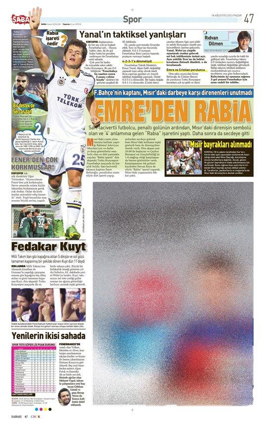Gazetelerin Konyaspor-Fenerbahçe manşetleri 25