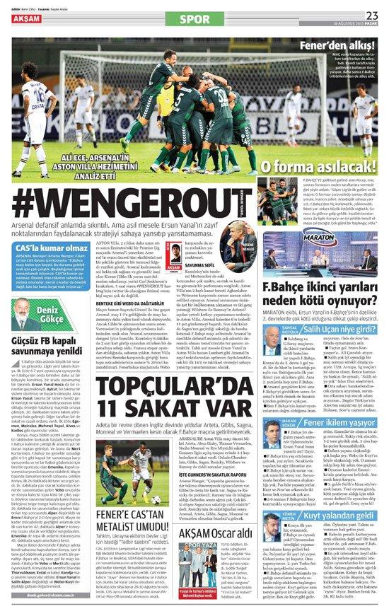 Gazetelerin Konyaspor-Fenerbahçe manşetleri 9