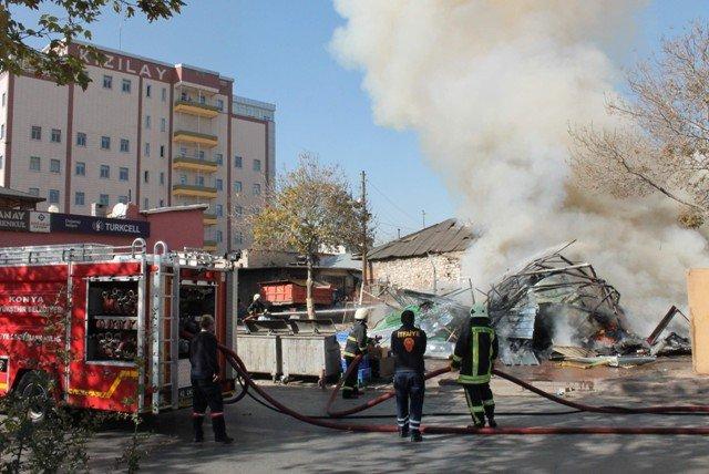 Yıkım sırasında yangın çıktı 5