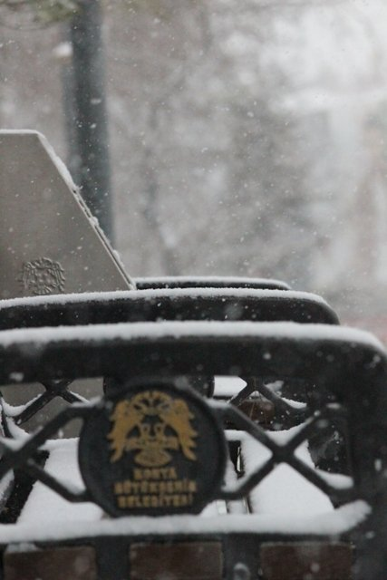 Konyaya yılın ilk karı yağdı 11