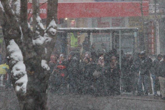 Konyaya yılın ilk karı yağdı 12