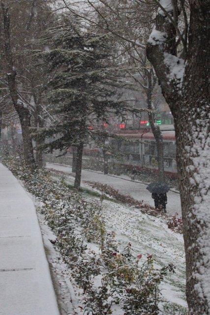 Konyaya yılın ilk karı yağdı 16