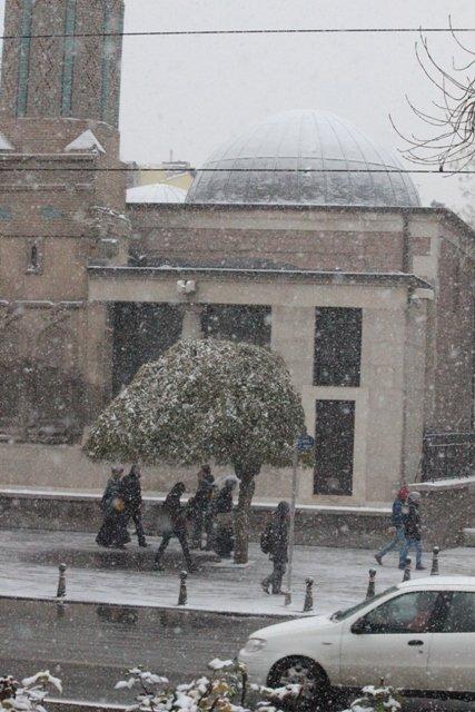 Konyaya yılın ilk karı yağdı 18