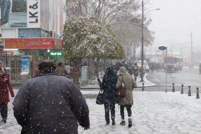 Konyaya yılın ilk karı yağdı 22