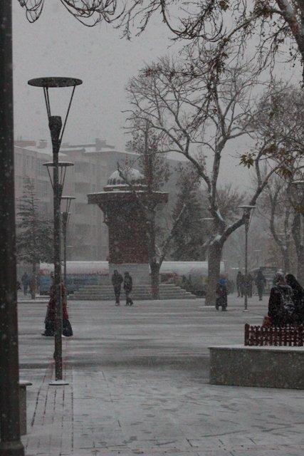 Konyaya yılın ilk karı yağdı 23