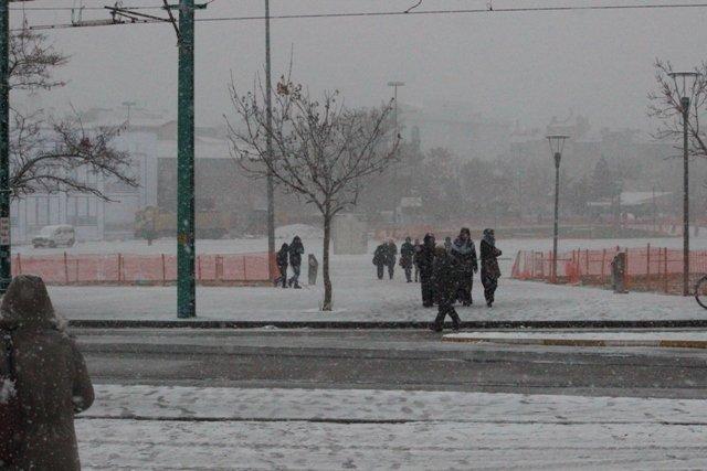 Konyaya yılın ilk karı yağdı 27