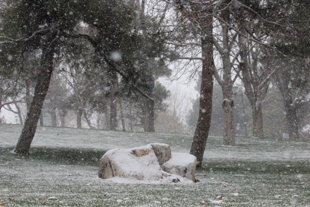 Konyaya yılın ilk karı yağdı 8