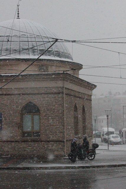 Konyaya yılın ilk karı yağdı 9