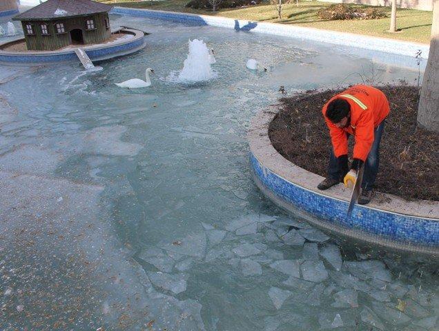 konyada havuzlar buz tuttu 5