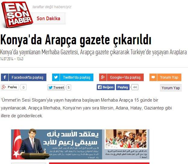 Arapça gazete gündem oldu 3