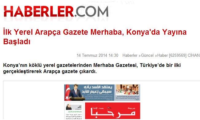 Arapça gazete gündem oldu 4
