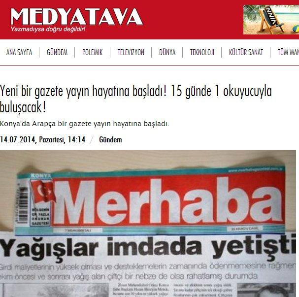 Arapça gazete gündem oldu 7